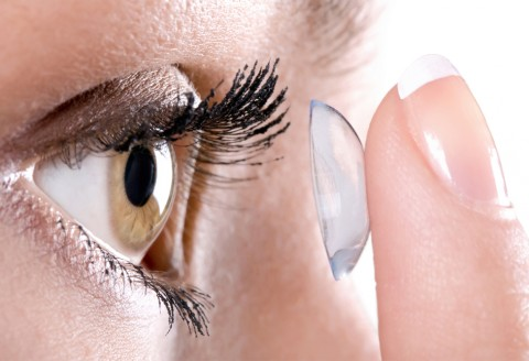 Re-order contact lenses online