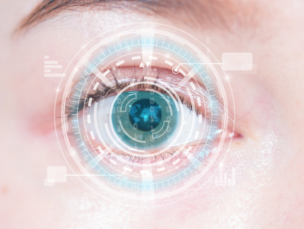 Smartphone Connected Contact Lenses Eye Contact