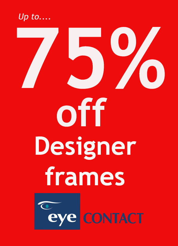 up to 75% off designer frames | Eye Contact Opticians, Liverpool ...